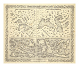 Comparative Size of Lakes and Islands, c.1856 Affiches par G. W. Colton