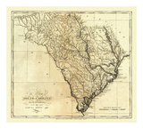 State of South Carolina, c.1795 Print by Mathew Carey