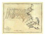 State of Massachusetts, c.1795 Posters by Mathew Carey