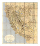 Map of California and Nevada, c.1874 Prints