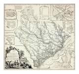 Karte von the Province of South Carolina, c.1773 Kunstdrucke von James Cook