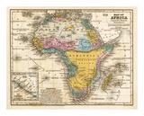 Mapa de África, c.1839 Láminas por Samuel Augustus Mitchell