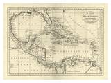 Chart of the West Indies, c.1795 Poster von Mathew Carey
