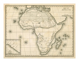 Map of Africa, c.1839 Prints by Samuel Augustus Mitchell