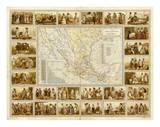 Carta Etnografica, c.1885 Prints by Antonio Garcia Cubas