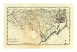 State of North Carolina, c.1795 Poster by Mathew Carey