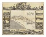 Mapa Historico Pintoresca Moderno de al Isla De Cuba, c.1853 Prints by B. & C. May