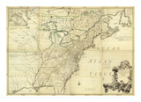 Amerique Septentrionale, c.1756 Posters by John Mitchell