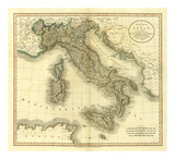 Italy, c.1799 Posters by John Cary