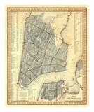 City of New York, c.1846 Prints by Samuel Augustus Mitchell