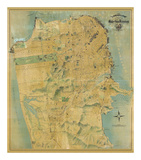 The Chevalier Map of San Francisco, c.1911 Prints by August Chevalier