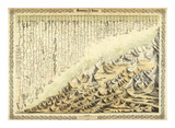 Mountains &amp; Rivers, c.1856 Print by G. W. Colton