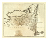 State of New York, c.1795 Poster von Mathew Carey
