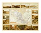 Vias de Comunicacion y Movimiento Maritimo, c.1885 Prints by Antonio Garcia Cubas