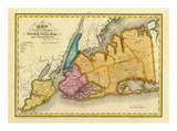 New York, Queens, Kings, Richmond counties, c.1829 Posters by David H. Burr