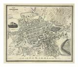 Edinburgh, Skottland, ca 1844 Posters