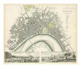 Bordeaux, France, c.1832 Affiche