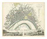 Bordeaux, France, c.1832 Planscher