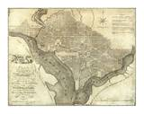 Plan of the City of Washington, c.1795 Prints by John Reid