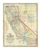 New Map of The State of California and Nevada Territory, c.1863 Prints by Leander Ransom