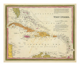 West Indies, c.1846 Poster by Samuel Augustus Mitchell