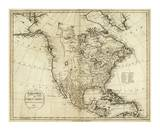 Map of North America, c.1796 Prints by John Reid