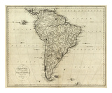 Map of South America, c.1796 Prints by John Reid