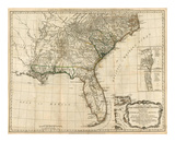 General Map of the Southern British Colonies, in America, c.1776 Art by Robert Sayer