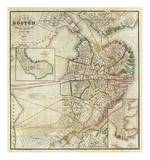 Plan of Boston Comprising a Part of Charlestown and Cambridge, c.1846 Print by George G. Smith