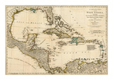Complete Map of the West Indies, c.1776 Print by Robert Sayer