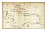Map of the West Indies, c.1794 Prints by Jedidiah Morse