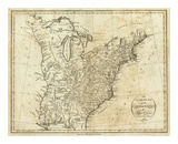 Map of the United States of America, c.1796 Prints by John Reid