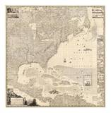 Composite: British Empire in America, c.1733 Prints by Henry Popple