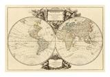 Mappemonde, c.1752 Reprodukcje autor Robert De Vaugondy