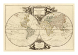 Mappemonde, c.1752 Prints by Robert De Vaugondy