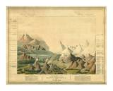 Comparative View of the Heights of the Principal Mountains in the World, c.1816 Juliste tekijänä Charles Smith