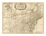 Map of the Middle British Colonies, in America, Art Print