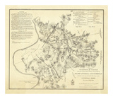 Civil Wat Battlefields In Front of Nashville, c.1866 Prints by M. Peseux