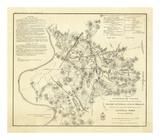 Civil Wat Battlefields In Front of Nashville, c.1866 Prints by M. Peseux