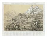 Cuadro General de Alturas Comparativas del Peru, c.1865 Prints by Mariano Felipe Paz Soldan
