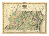Virginia, Maryland and Delaware, c.1823 Prints by Henry S. Tanner