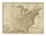 View of the Whole Internal Navigation of the United States, c.1830 Art by Henry S. Tanner