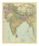 Composite: India, c.1901 Prints by Edward Stanford