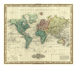 World on Mercators Projection, c.1823 Prints by Henry S. Tanner