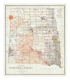 Territory of Dakota, c.1879 Posters