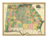 Georgia and Alabama, c.1823 Poster by Henry S. Tanner