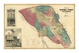 Map of Sonoma County California, c.1877 Art by Thos. H. Thompson