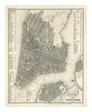 New York, Plan, c.1844 Posters