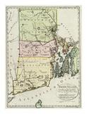 Rhode Island, c.1797 Posters by Daniel Friedrich Sotzmann