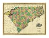 Map of North and South Carolina, c.1823 Posters by Henry S. Tanner